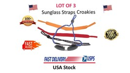 Sunglass eyeglass strap retainer Croakies Lot of 3 Pieces Sports glass band - $9.99
