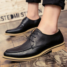 Men Retro 2018 Merkmak Oxford Up Leather Shoes New Luxury Poin Lace Shoes Dress OwYrxrtd