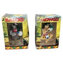Set of 2 Disney Grolier The Jungle Book Mowgli and Baloo Christmas Ornam... - $19.79