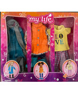 """My Life As 18"""" Doll Clothes 3 Pc Outfits NEW Love Outdoorsy Dress Boots - $29.99"""