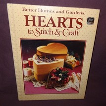Hearts Stitch Craft Book 1984 Better Homes Gardens Patterns Cross Stitch... - $9.99