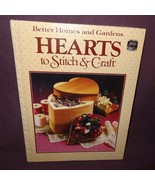 Hearts Stitch Craft Book 1984 Better Homes Gardens Patterns Cross Stitch Braid - $9.99