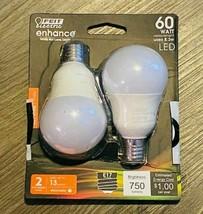 Feit Electric BPA1560N/927CA2 Enhance A15 Dimmable LED Bulb, 8.3 W, Soft White - $8.41