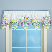 Embroidered Easter Eggs and Flowers Window Valance Home Accessories - $24.17