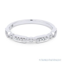 0.11 ct Round Diamond Anniversary Band 14k White Gold Stackable Right-Ha... - $429.00
