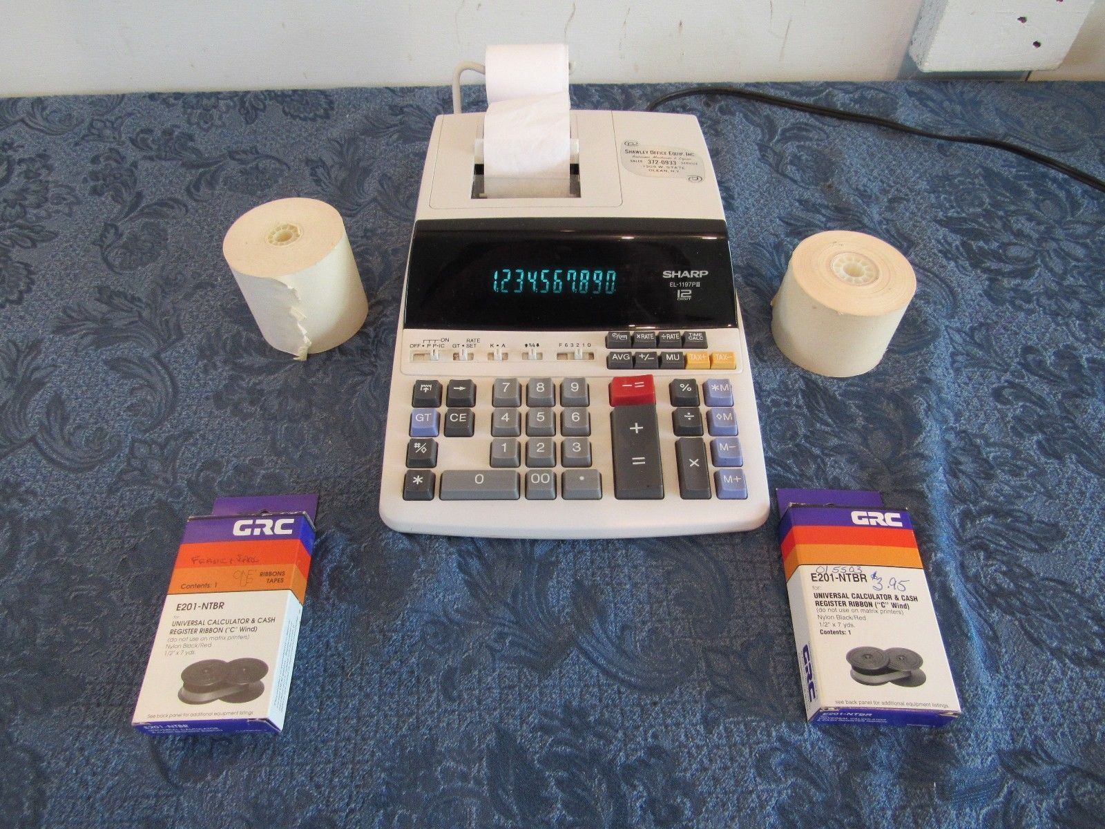 Sharp EL-1197III Heavy Duty 12-Digit Color Printing Calculator With Extras