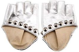Punk Photography Rivets Fingerless Gloves Women Leather Gloves Dance Silver - £10.29 GBP