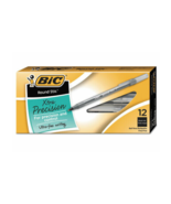 NEW Wholesale CASE of 25 Bic Round Stic Ballpoint Fine Point Black 300 Pens - $71.15