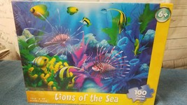 """Springbok KIDS, Jigsaw Puzzle, """"Lions of the Sea"""" 100 pc NEW SEALED - $11.40"""