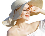 women hat summer big brim straw hat sun floppy wide brim hats new bowknot folding thumb155 crop