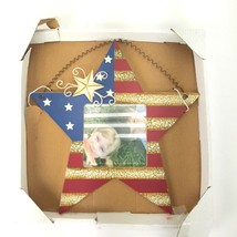 """Americana Country Star Hanging Picture Frame 4""""x4"""" Photo NWT 10"""" Tall Na... - $14.01"""