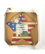 "Americana Country Star Hanging Picture Frame 4""x4"" Photo NWT 10"" Tall Na... - $14.01"