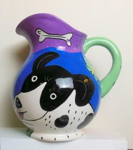 Vintage Happy Dog and Cat Dog Pitcher Chaleur Art by Gleff - $44.00