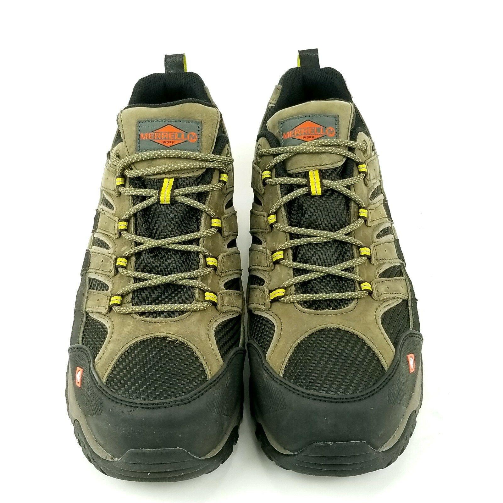 Merrell Moab 2 Vent Mens 8.5 Waterproof Comp Steel Safety Toe Work Shoe J15773