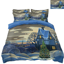 3D Christmas  Xmas 2115 Bed Pillowcases Quilt Duvet Cover Set Single Queen King - $90.04+