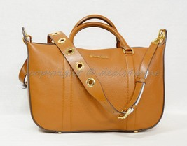 Michael Kors Raven Grommet Large Leather Satchel/Shoulder bag in Luggage... - $219.00