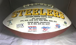 ROETHLISBERGER & BROWN / AUTOGRAPHED PITTSBURGH STEELERS LOGO WHITE FOOTBALL COA image 2