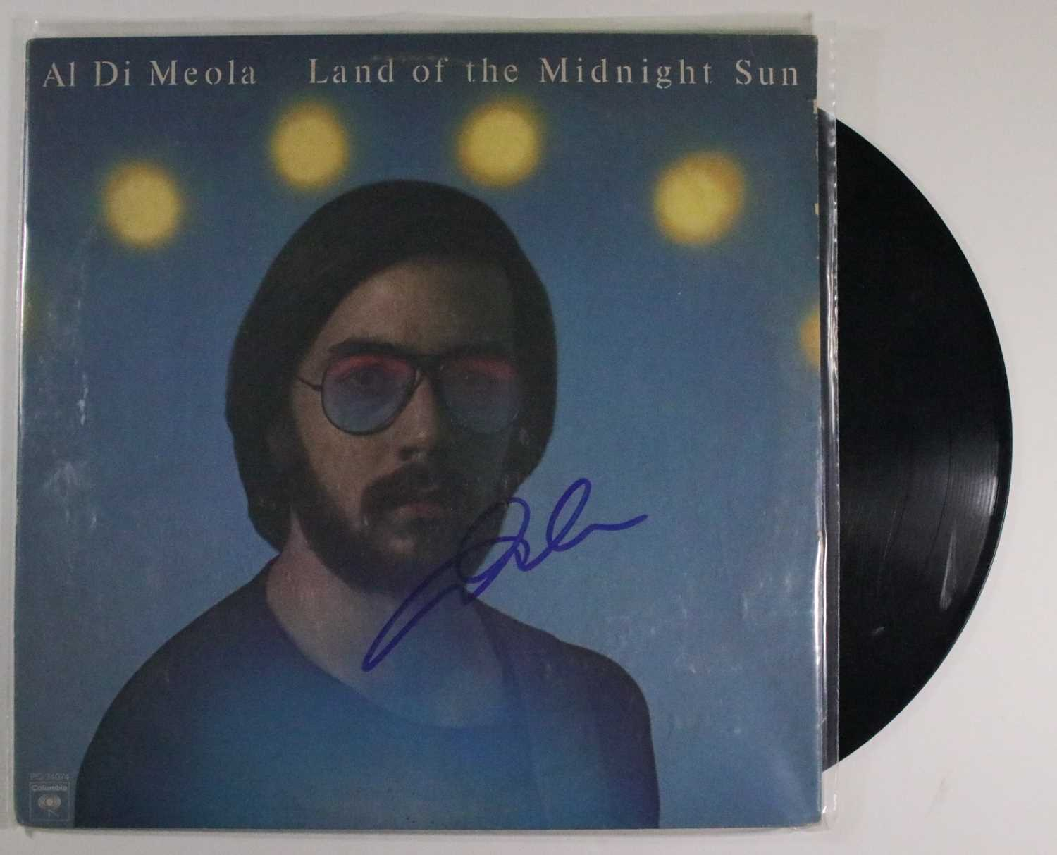 "Primary image for Al Di Meola Signed Autographed ""Land of the Midnight Sun"" Record Album"