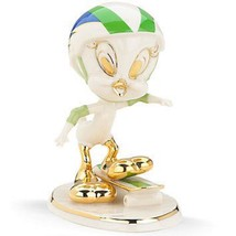 Lenox Tweety Skateboarding Figurine Bird Helmet Looney Tunes Warner Bros... - $59.29