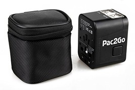 Pac2Go Universal Travel Adapter with Quad USB Charger - All-in-One Surge... - $32.30