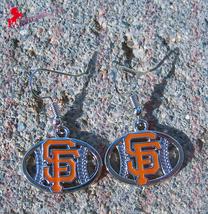 San Francisco Giants Dangle Earrings, Sports Earrings, Baseball Fan Earr... - $5.95