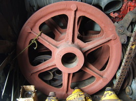 """47"""" Cast Iron  WireRope Sheaves/ Steel cable pulleys - $445.49"""