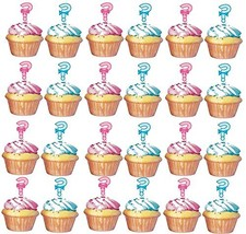 Gender Reveal ? Cupcake Toppers -24 Pack - $12.95