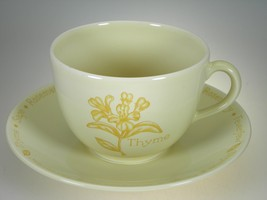 Royal Worcester Herb Garden Yellow Breakfast Cup & Saucer NEW WITH TAGS - $14.80