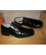Mens 12 STACY ADAMS Blk Genuine Leather Oxfords Shoes - $22.37