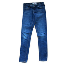Levis Denizen Super Skinny Boys Jeans Sz 16 Adjustable Waist Med Wash Blue Denim - $16.44