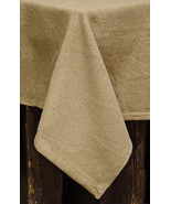 "Burlap Tablecloth 60"" Square Cotton Diningroom Country Farmhouse Primiti... - $36.58"