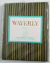 "WAVERLY Rod Pocket Panel 50"" X 63"" Palmer Stripe Green Black Brown Curta... - $24.99"