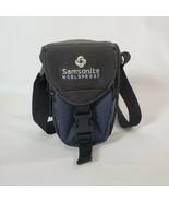 Samsonite Worldproof Camera Bag Shoulder Strap Blue Black - $18.70