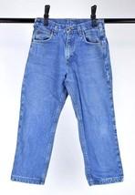 CARHARTT Blue Denim Plaid Flannel Lined Jeans Winter Work Pants Mens 30 ... - $24.74
