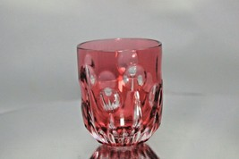 Faberge Cranberry Colored Crystal Shot Glass - $115.00