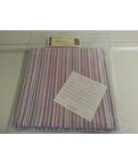 Longaberger Napkins 2 Pack Market Stripe 100% Cotton Fabric New In Bag A... - $12.82