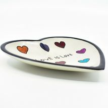 "Crafts Caravan Handmade Kisii Soapstone ""Love is Love"" Heart Shaped Trinket Dish image 3"