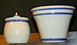 Daviess County Westerwald Pottery Honey Pot with Lid & Bowl AA-191833 image 3