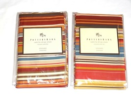 Pottery Barn Two (2) Camille Stripe Standard Shams New 100% Cotton Portugal - $37.99