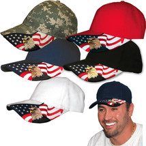 The American Patriotic Baseball cap Rockpoint Eagle Flag cap USA 5 cotto... - $14.00