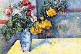 Still Life with Flowers in a Vase by Paul Cezanne - Art Print - $19.99+