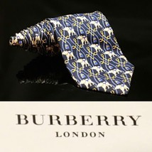 Burberry London Made Elephant  braided Luxury  Ribbon neck tie - $51.52