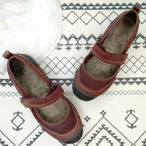 Merrell Womens Mimosa Emme Mary Jane Flats Size 8.5 Mahogany Suede Comfort Shoes - $31.49