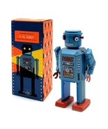 """R-35 ROBOT 5"""" Saint St. John Wind Up Tin Toy Collectible Retro Space Age... - $26.95"""
