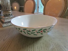 "LENOX AMERICAN BY DESIGN HOLIDAY 10.25"" LARGE SERVING BOWL #830141 NEW G... - $23.76"