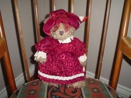 Russ Berrie Alexandra Plush Bear 4608 Velvet Clothing - $67.54