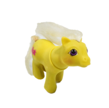 Vintage Hasbro 1987 Collectibles My Little Pony Toy Yellow White Tail Fi... - $17.81