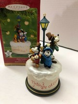 HALLMARK Mickey Mouse Disney MERRY CAROLERS Wind Up Music Movement Ornament - $23.76