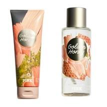 Victoria's Secret PINK Golden Honey Fragrance Mist & Lotion 2 Pc Set - $26.17