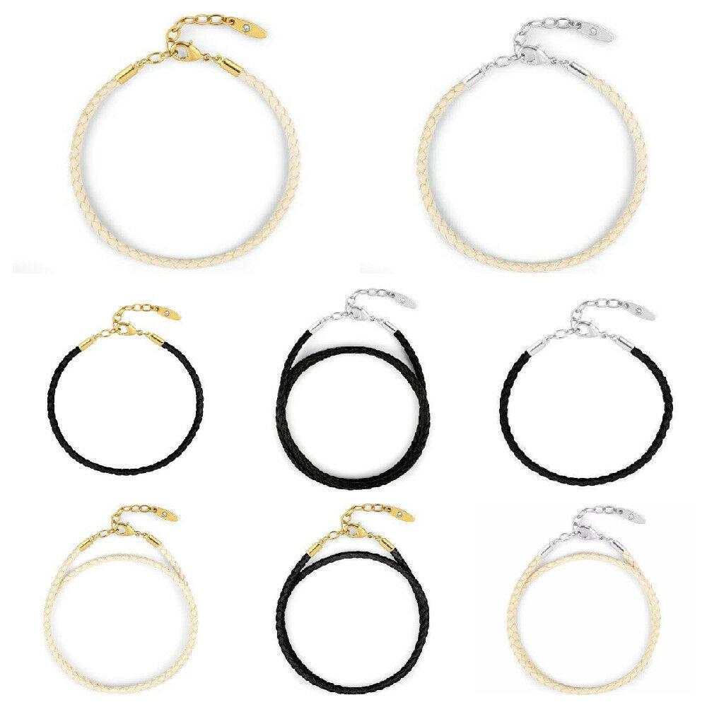 Swarovski Leather Bracelets Charm BeCharmed Crystal Jewelry Making NEW * U Pick
